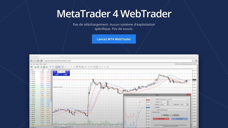 plateforme de trading web