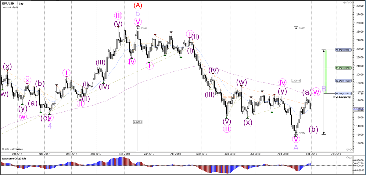 EUR/USD Daily Wave Analysis