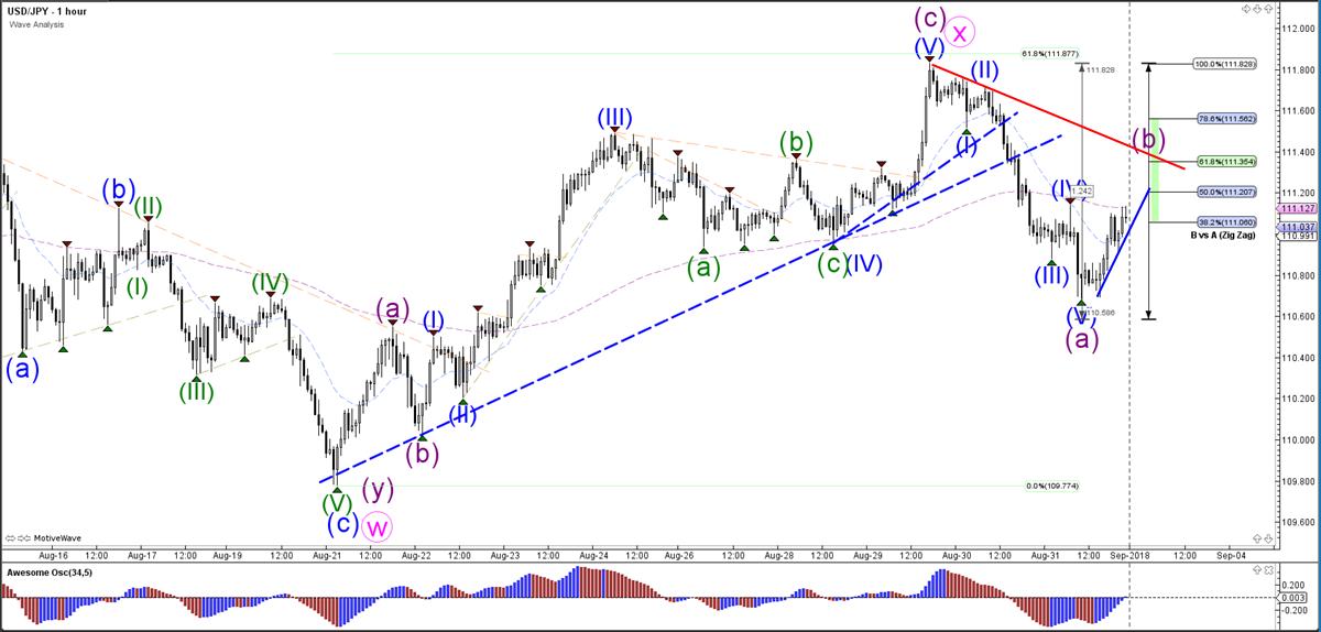 USD/JPY Hourly Wave Analysis