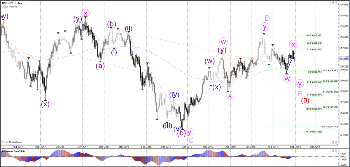 USD/JPY Daily Wave Analysis
