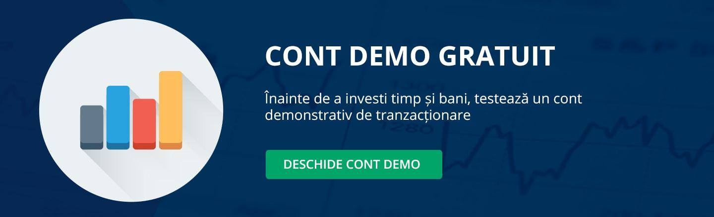 Deschide un cont demo de tranzactionare