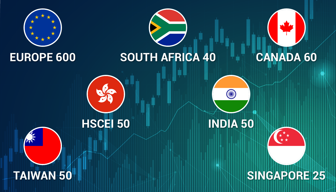 Nouveaux indices Europe600, Taiwan50, Singapore25, HSCEI50, India50, SouthAfrica40 sur MetaTrader 5