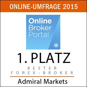 Bester Forex-Broker 2015: Admiral Markets UK laut Onlinebroker-Portal