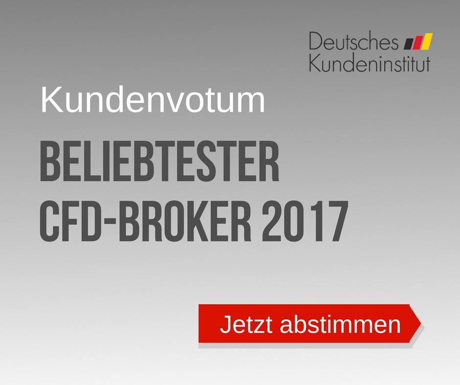 Wahl zum CFD Broker des Jahres 2017 vom DKI