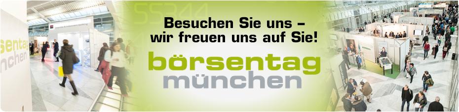 Besuchen Sie uns beim Börsentag München 2019