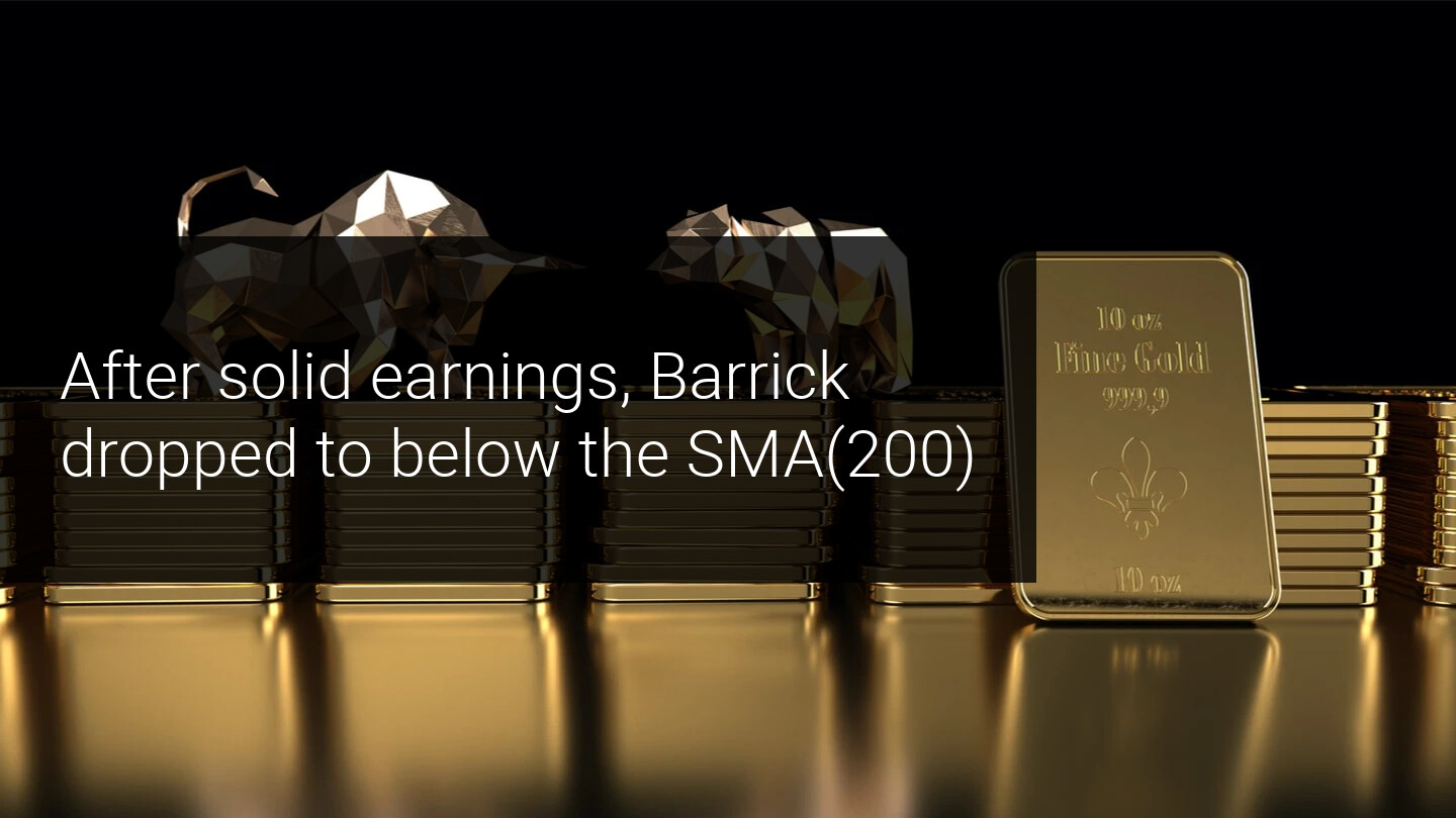 Bulls take a hit: Barrick Gold drops below SMA(200)