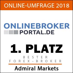 Bester Forex-Broker 2018 laut OnlineBroker-Portal: Admiral Markets
