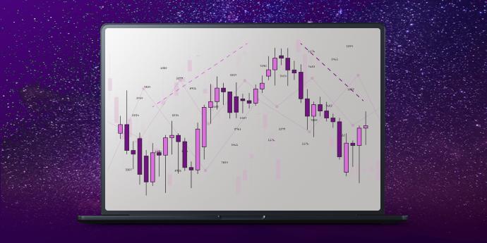 Ilustrasi Evening Star Pattern dalam Analisis Teknis
