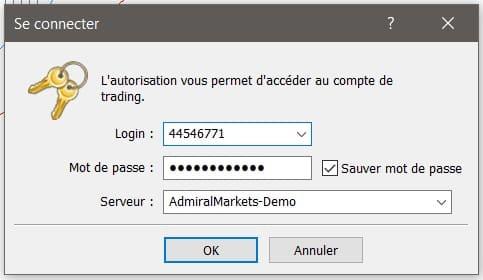 connexion MetaTrader 5 Windows compte de trading Forex