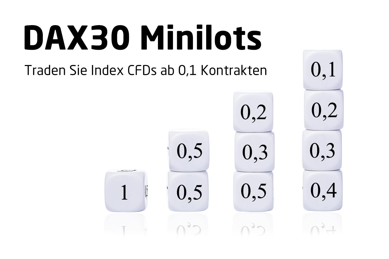DAX30 und andere Index CFDs ab 0,1 Kontrakten traden. CFD Minilots bei Admiral Markets.