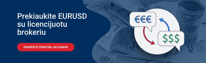 Prekiaukite EUR USD
