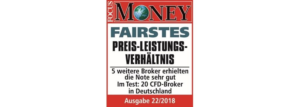 CFD Brokerauszeichnung 2018 für Admiral Markets: Fairstes Preis-Leitsungsverhältnis