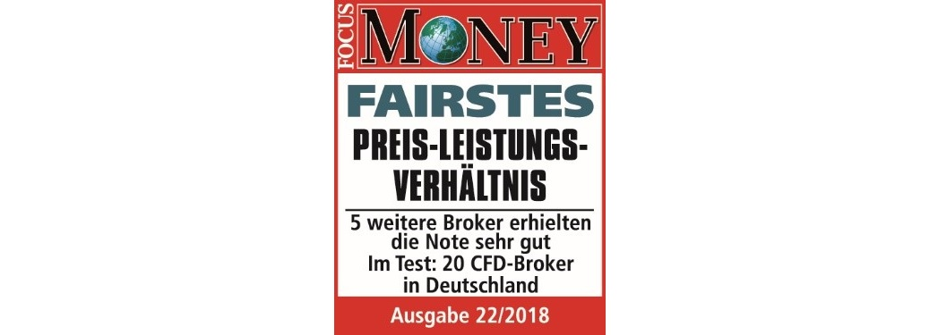 Award 2018 für Admiral Markets von Focus Money