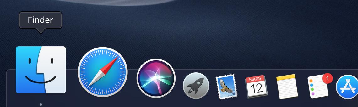 Finder pour trouver le logiciel de bourse MetaTrader 4 Mac Edition Suprême