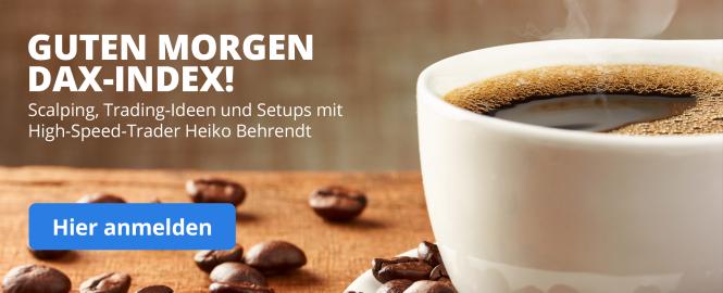 Guten Morgen DAX-Inden! - Unsere beliebte Webinarreihe mit Daytrader Heiko Behrendt