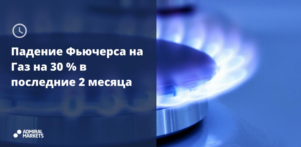 Фьючерс на газ за 2 месяца рухнул на 30%