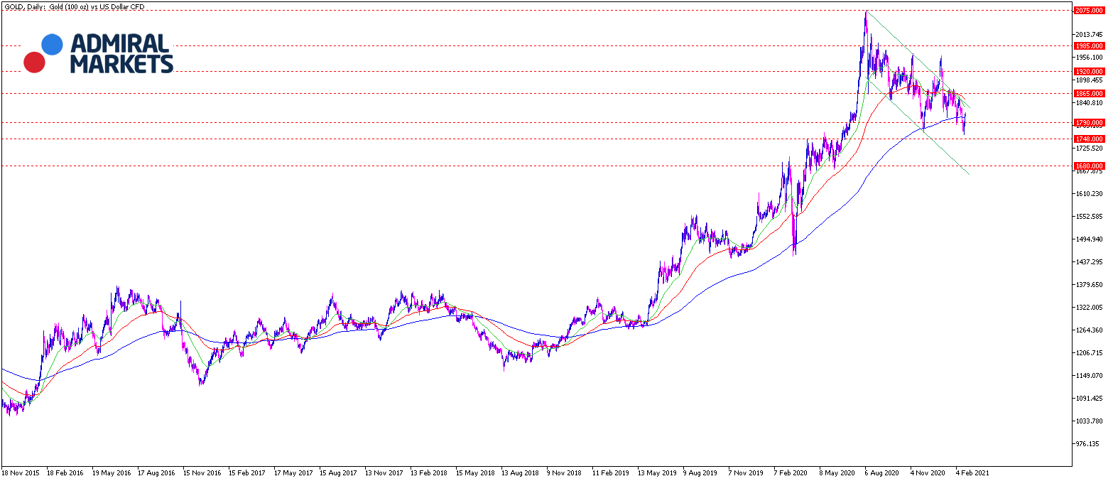 Gold Chartanalyse 23.02.2021 daily - Gold Daytrading