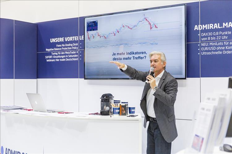 Jochen Schmidt am Messestand: Indikatoren, Markttechnik, Daytrding-Tipps und mehr