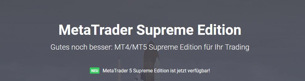 Admiral Markets - Supreme Erweiterung für den MT4 & MT5!