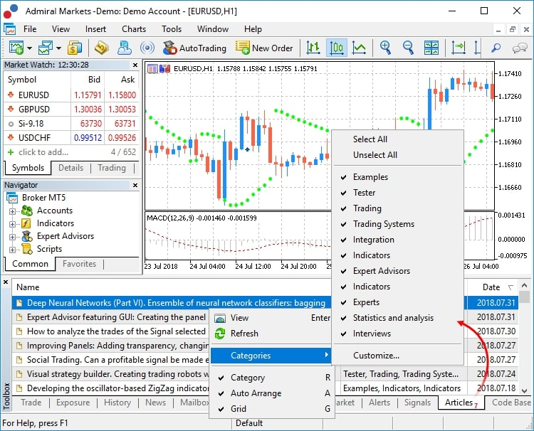 Formation trading MT5