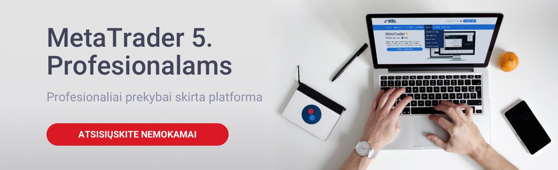 MetaTrader5 prekybos platforma Profesionaliai prekybai