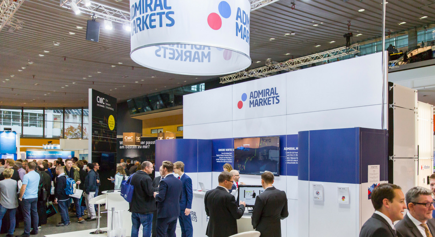 Messestand Admiral Markets 2016