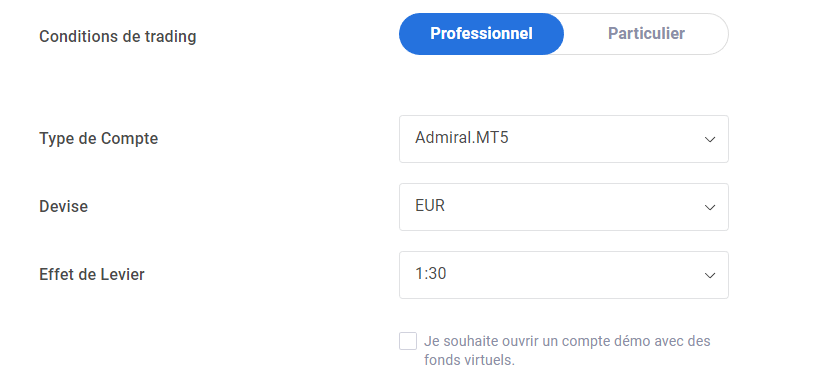 Ouverture compte de trading MetaTrader 4 Mac os X