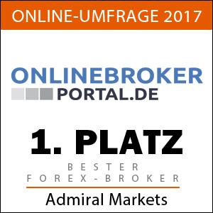 Admiral Markets bester CFD Broker 2017 laut Onlinebroker Portal