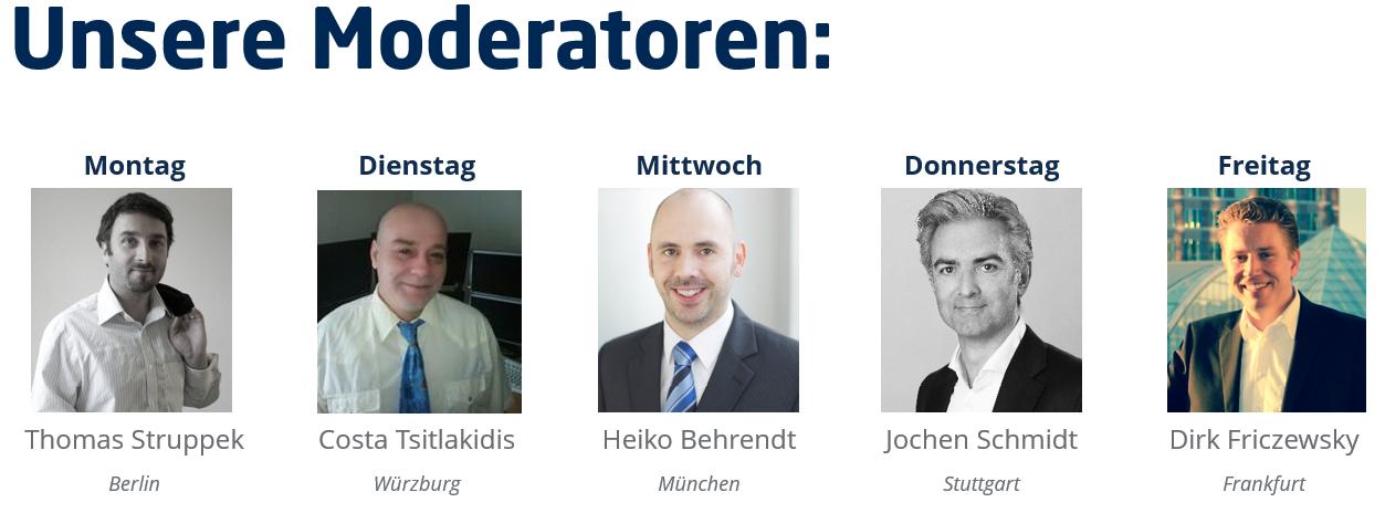 live-Trading der erfahrensten Daytrader Deutschlands - tägliches Webinar