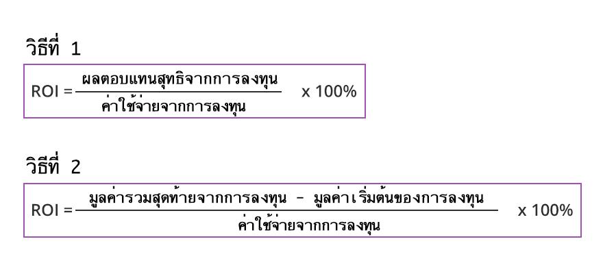 สูตรคำนวณค่า ROI เพื่อวัดค่าผลตอบแทนจากการลงทุน