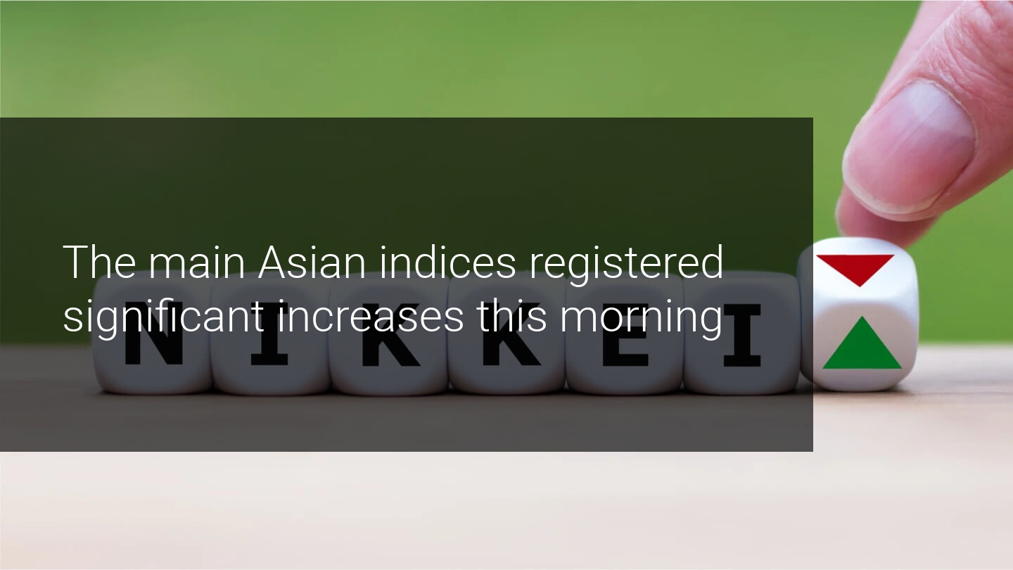Good macro data from Asia is giving wings to the main global indices