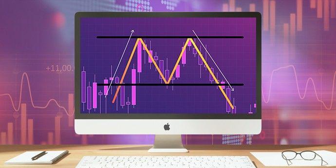 Ilustrasi trading dengan Pola Double Top