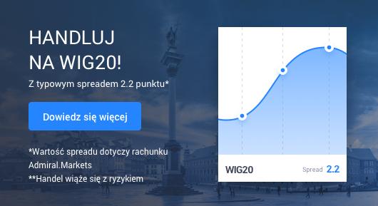 Handluj na CFD na WIG20