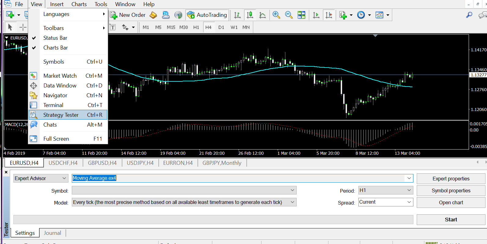 backtesting forex software