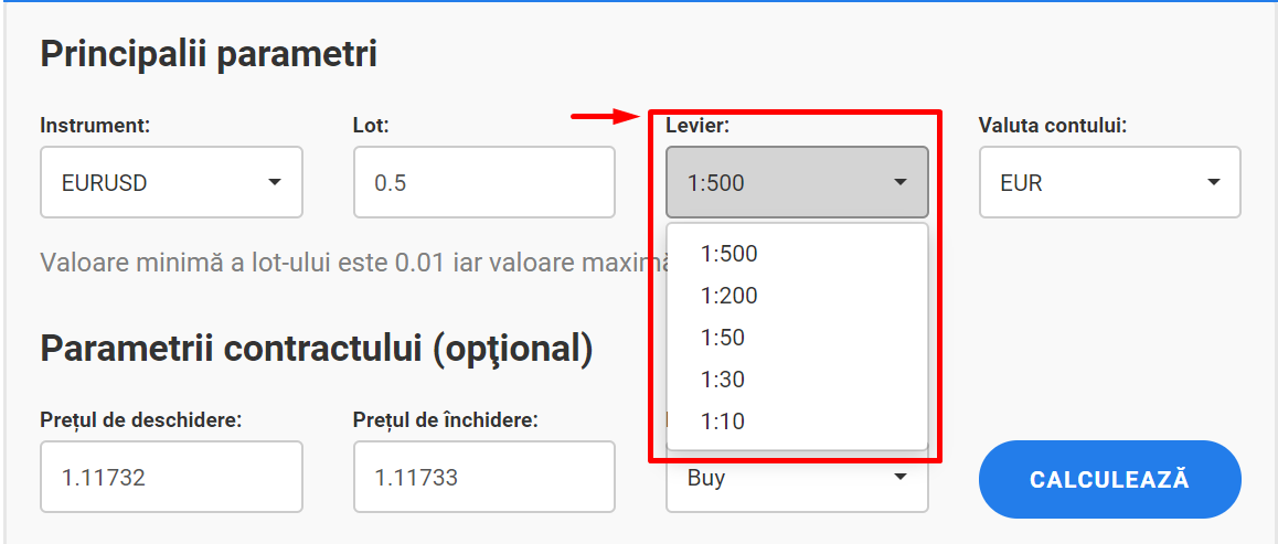 calculator de tranzactionare forex
