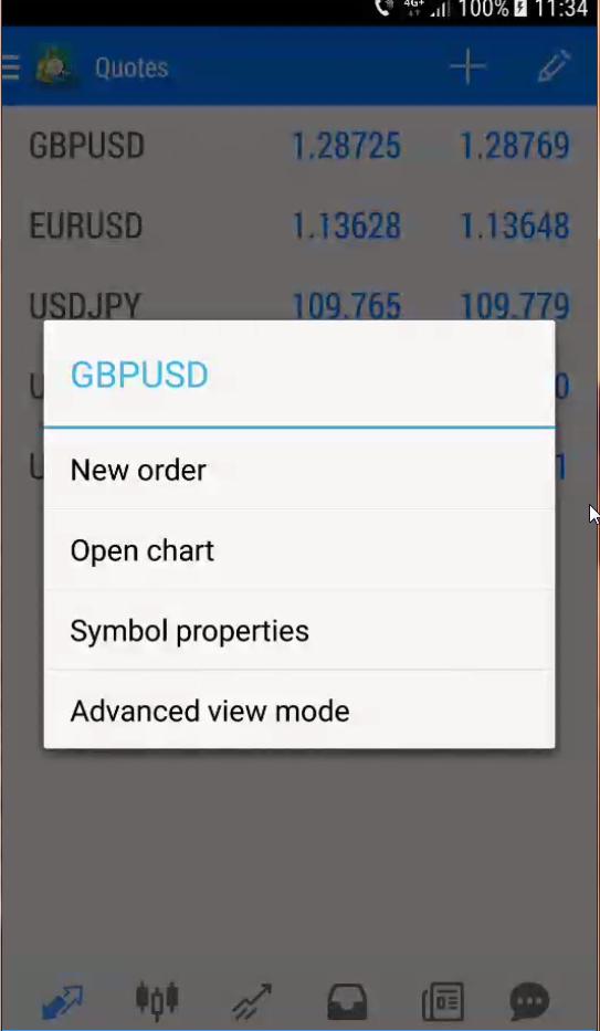 cotatii aplicatie trading android