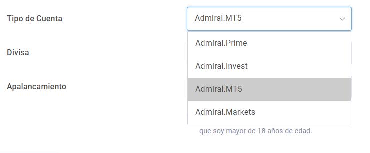 cuenta de trading - tipo