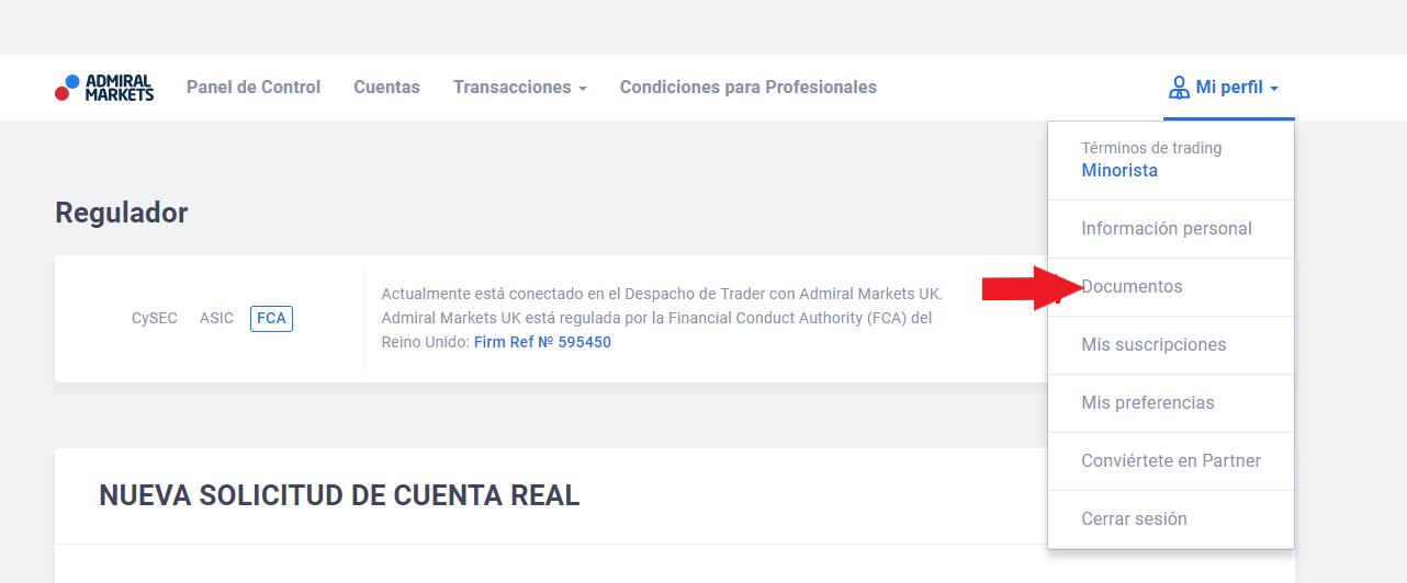 cuenta de trading - documentos