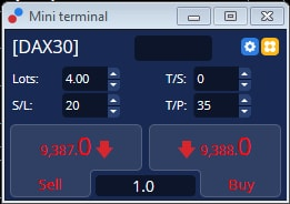 dax trade mini terminal