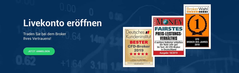 Handeln Sie CFDs auf den DAX Index beim Broker Ihres Vertrauens!