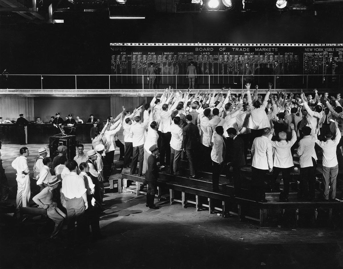 XX a. Prekyba finansų biržoje