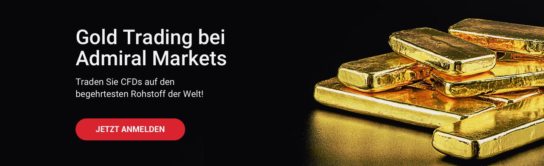 Traden Sie CFDs auf Gold und andere Rohstoffe bei Admiral Markets!