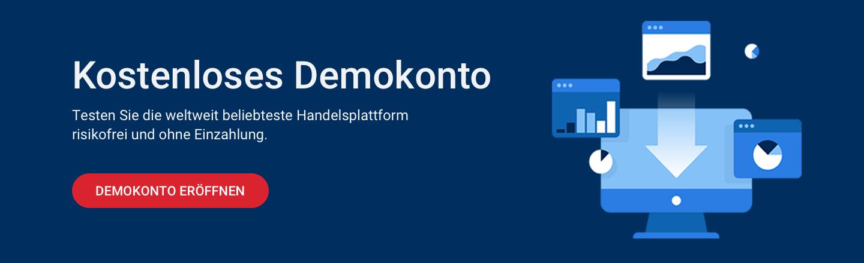 Die beliebteste Handelsplattform MetaTrader mit unserem Demokonto kostenlos testen!