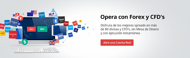 Opera en Forex y CFD
