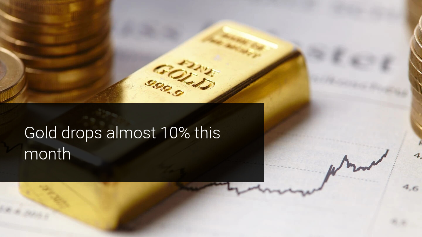Will gold complete its near 10% drop this month?