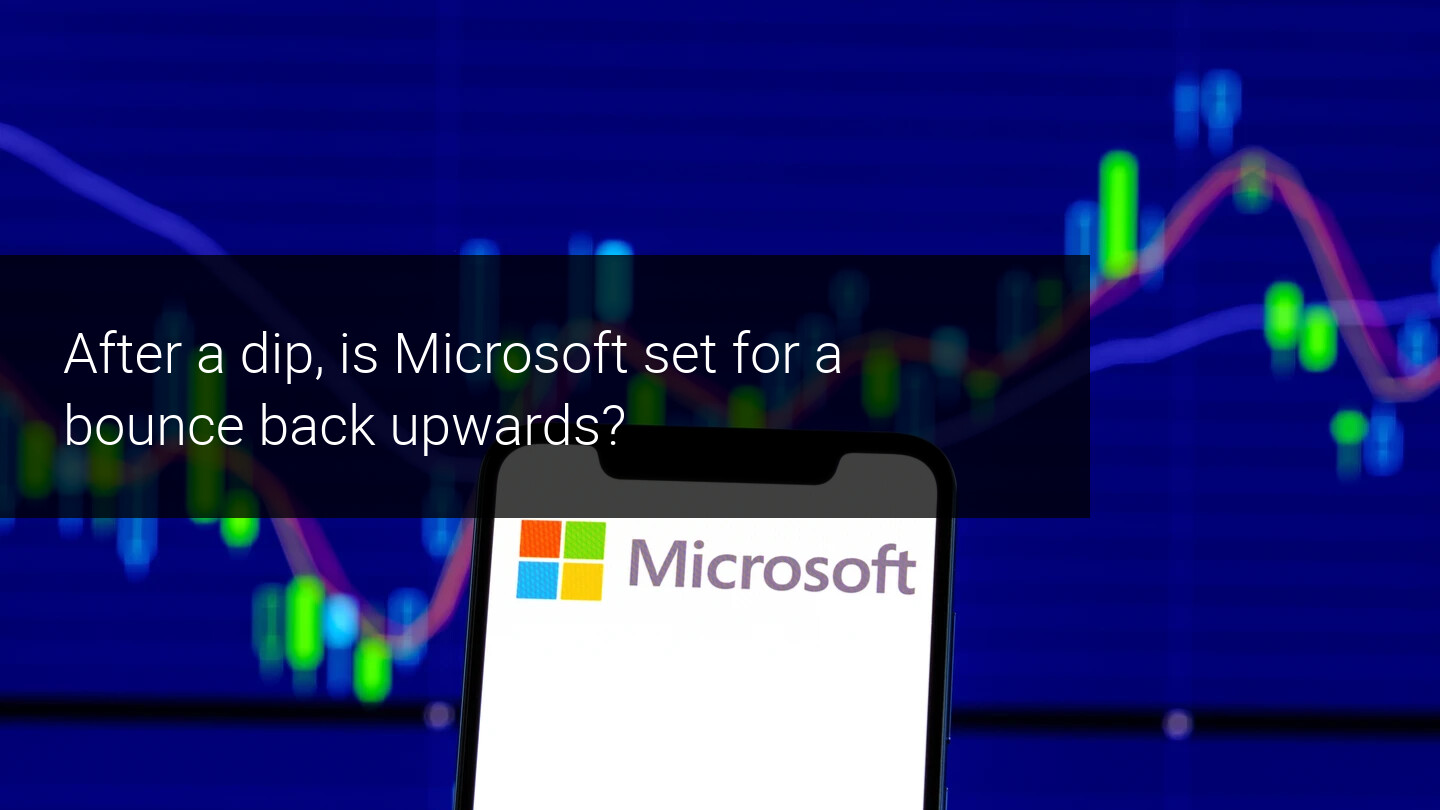 Microsoft drops on earnings. Bounce higher at key support?