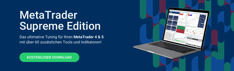 Profitieren Sie von unzähligen zusätzlichen Tools und Indikatoren in unserer exklusiven MetaTrader Supreme Edition!