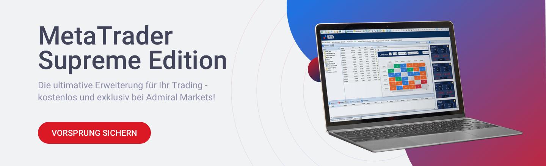Mit der kostenlosen MetaTrader Supreme Edition von Admiral Markets Trading Vorteil sichern!