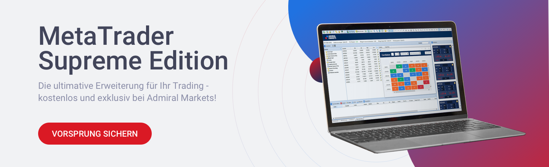 Erweitern Sie den EMA Indikator kostenlos mit den zahlreichen zusätzlichen Tools und Indikatoren aus unserer MetaTrader Supreme Edition