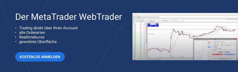 Mit dem MetaTrader WebTrader handeln Sie direkt über Ihren Account!